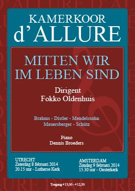 Poster Kamerkoor d'allure_donker rood.indd